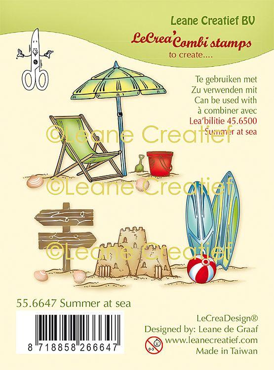 Kaarten maken in thema strand zon en zee clear stamps