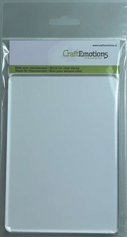 Groot acrylblok voor stempels - A6 10.5 x 14.8 x 0.8 cm