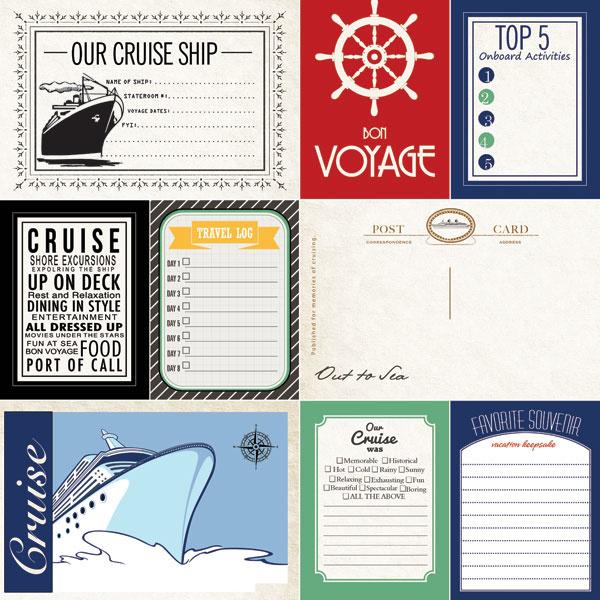 Cruise Journal - 30.5 x 30.5 cm scrappapier