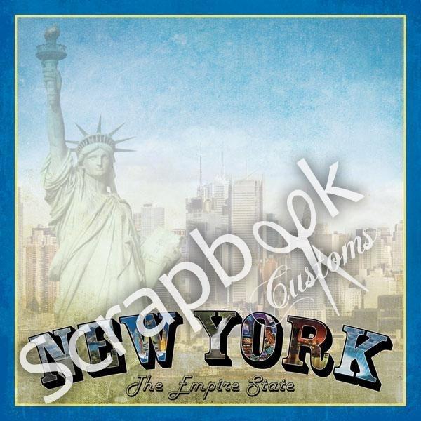 New York - Scrapbookpapier - vintage
