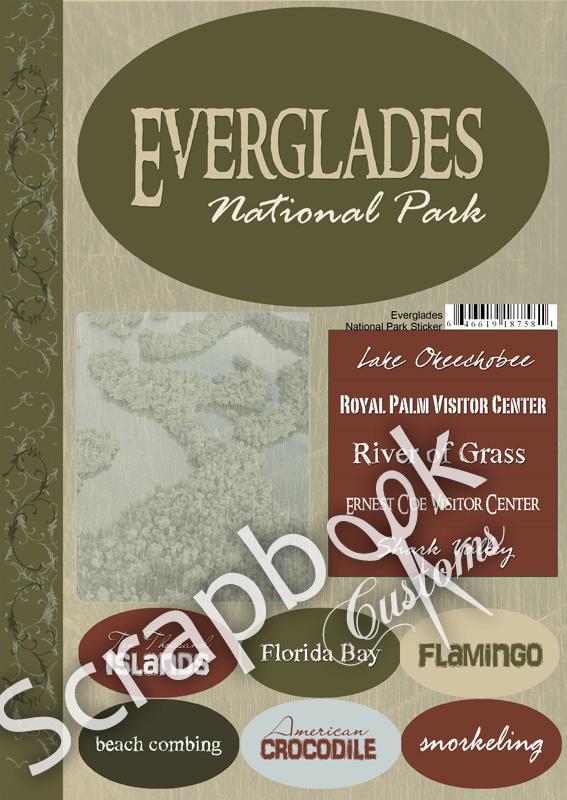 Everglades NP Cardstock stickers