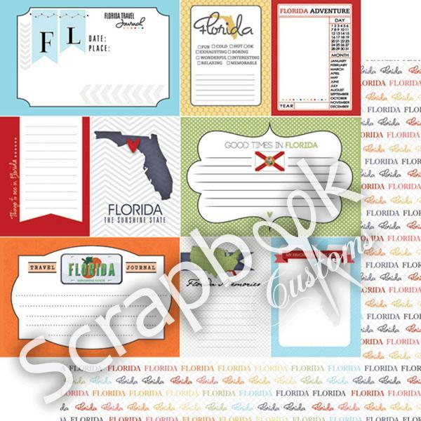 Florida - Journal2 - dubbelzijdig - 12x12 Papier - scrapbook customs