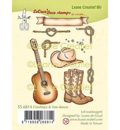 Cowboy & Line Dance Thema clear stempels om kaarten te stempelen  (9-delig)
