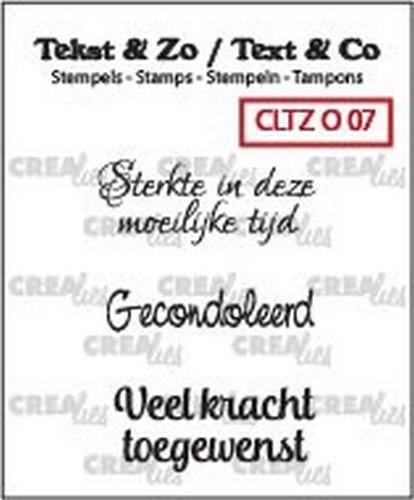 Crealies Tekst & Zo clear stamp - Overlijden 07 (NL)