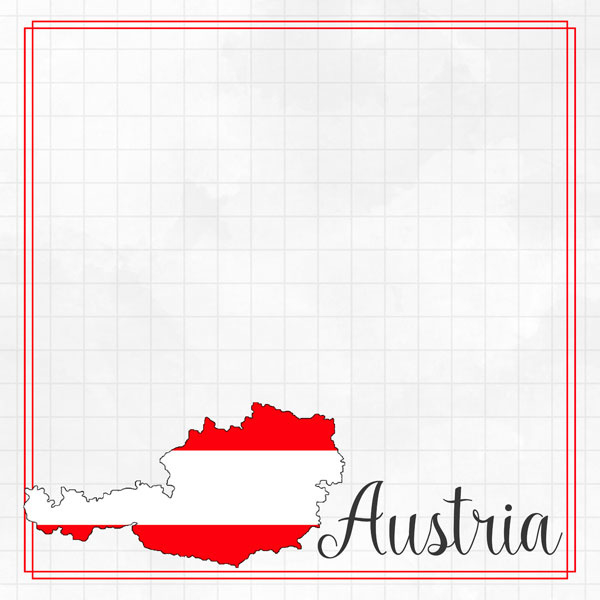 Austria Adventure border - dubbelzijdig scrapbook papier
