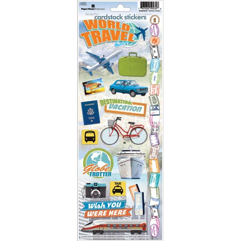 Cardstock Stickers World Traveler