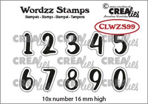 Crealies Clearstamp Cijfers Wordzz Numbers