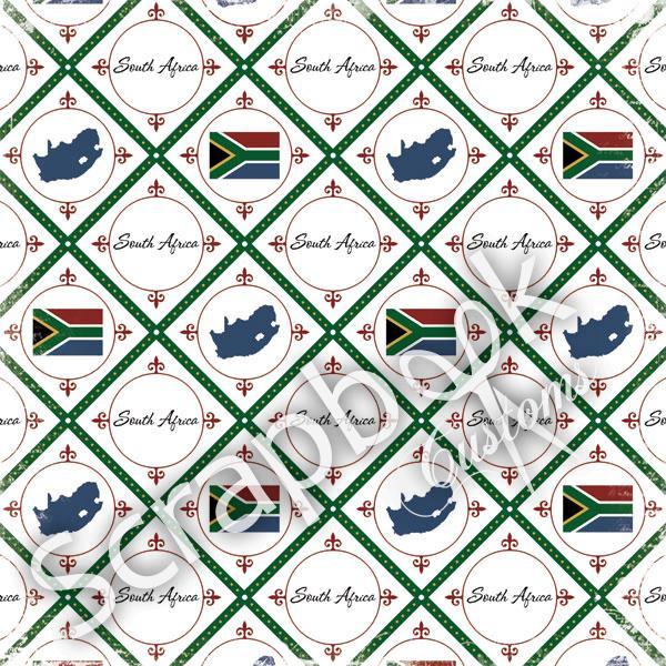 South Africa - Discover papier - 30.5 x 30.5 cm