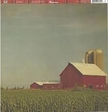 Amerikaanse Barn - achterzijde Houten planken  rood - 30,5 x 30,5 cm