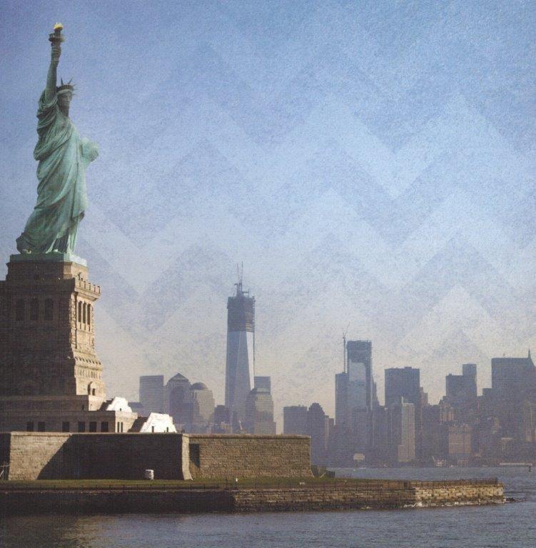 Blik op Manhattan 30.5 x 30.5 cm papier