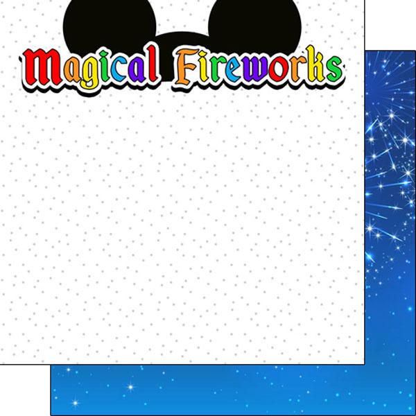 Magical Fireworks Ears Title - dubbelzijdig thema papier - 30.5x30.5 cm