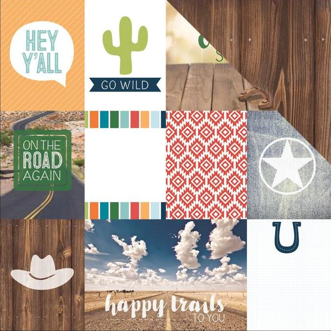 scrapbook papier Country Strong Tags