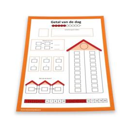 Getallenlijnmat 1-20 (met de even en oneven cijfers) + gratis getal van dag en getallenlijnsticker