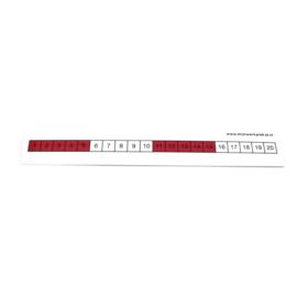 Getallenlijn sticker 1-20 (10 stuks)