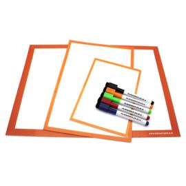 Kennismakingsset wisbordjes (A3, A4, A5, lijntjes en vakjes en getallenlijnen))