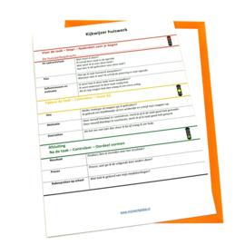 Planagenda met gratis kijkwijzer huiswerk