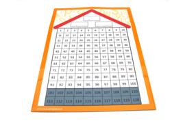 100-veld wisbordje (10 stuks) met magnetisch instructiebord