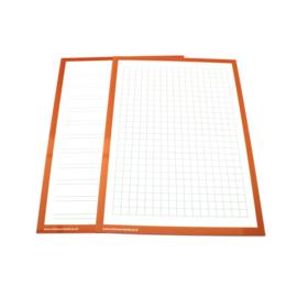 Wisbordjes A4 (30 stuks) met lijntjes en vakjes