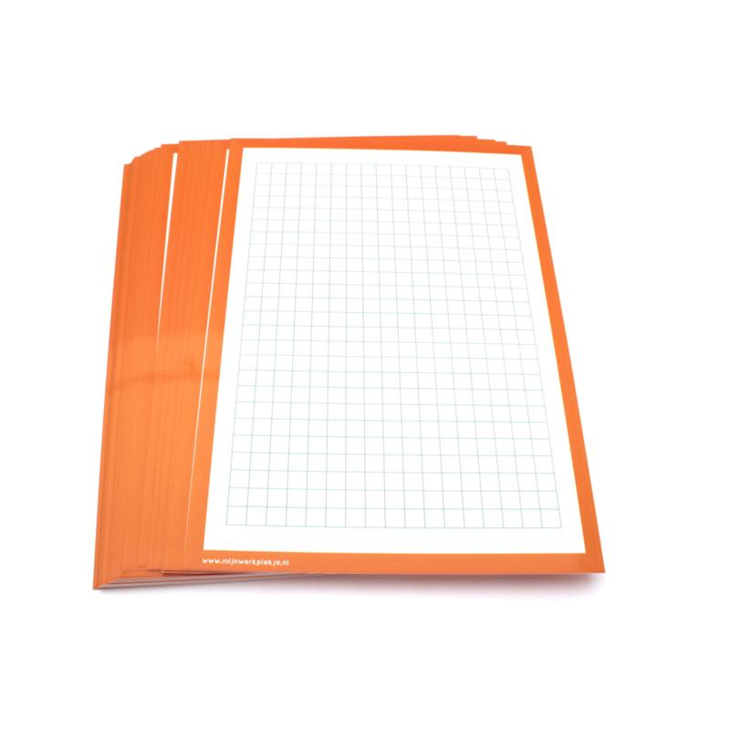 Wisbordjes A4 (30 stuks) met ruitjes en blanco achterkant