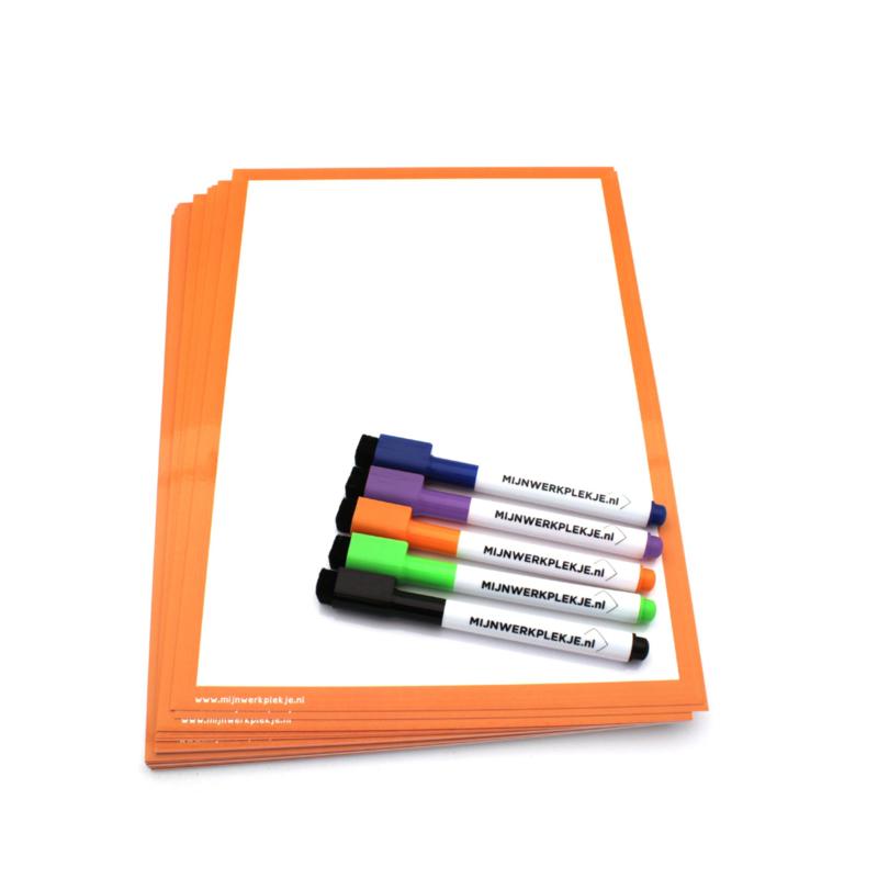 Wisbordjes A4 (30 stuks) met 30 whiteboardstiften