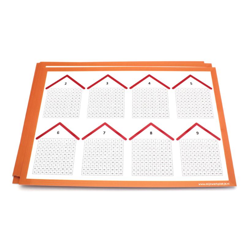 Lege tafelkaart (wisbordje) per 10 stuks.