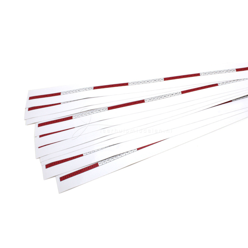 Getallenlijn sticker 1-50 (10 stuks)