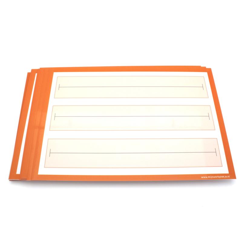 Wisbordjes A4 met getallenlijnen (30 stuks)