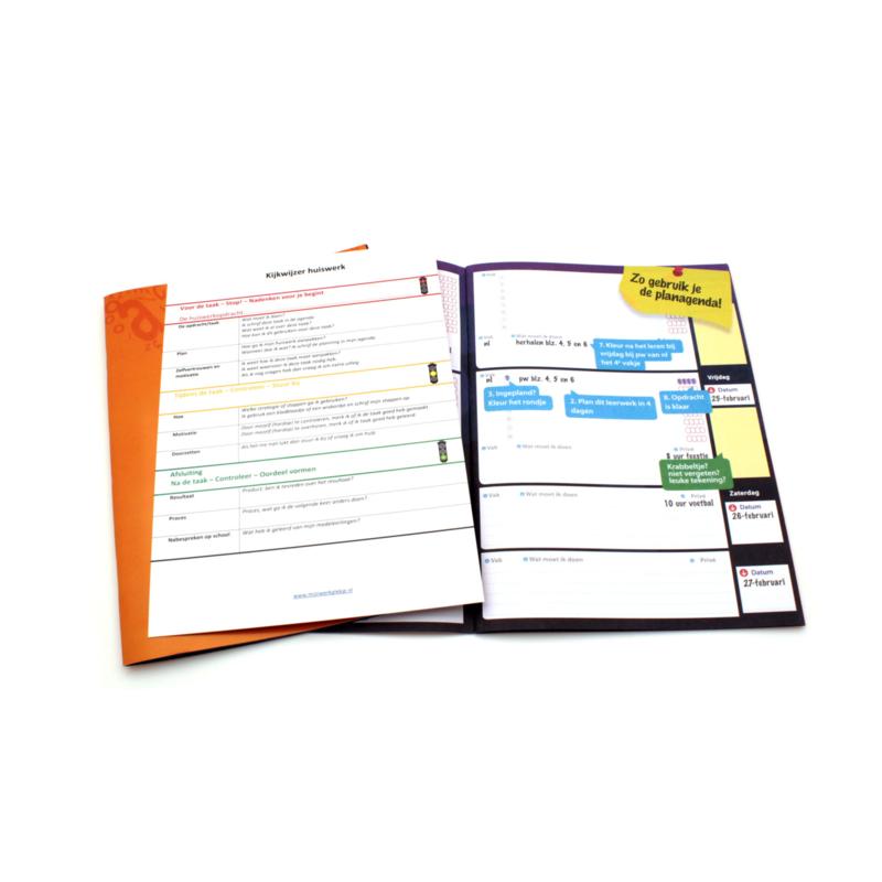 Planschriftje met kijkwijzer huiswerk
