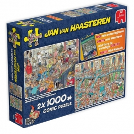 Studio Jan van Haasteren - Happy Holiday 2x 1000 pc