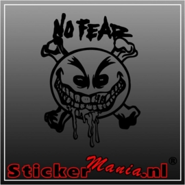 No fear skull sticker