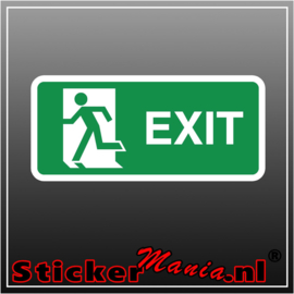 Exit links full colour sticker
