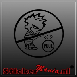 Calvin no pool sticker