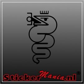 Alfa romeo snake sticker