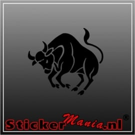Stier sticker