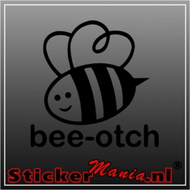 bee-otch sticker