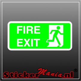 Fire exit rechts groen full colour sticker