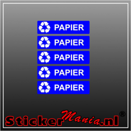 Papier rechthoekig - set van 5 full colour stickers