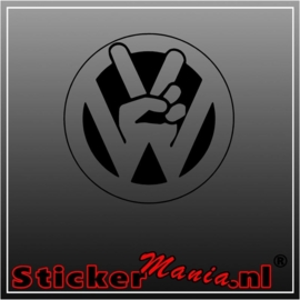 Volkswagen peace sticker