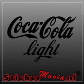 Coca cola light sticker