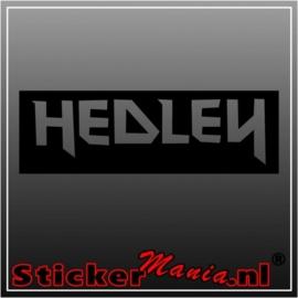Hedley sticker