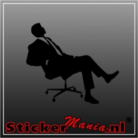 Lazy businessman sticker