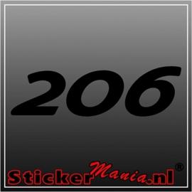 Peugeot 206 sticker