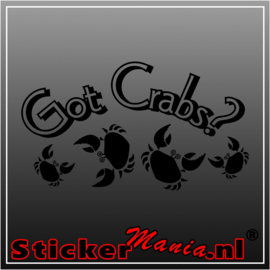 Got crabs? sticker