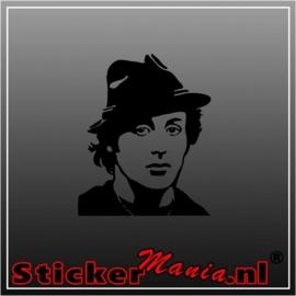 Sylvester stallone sticker