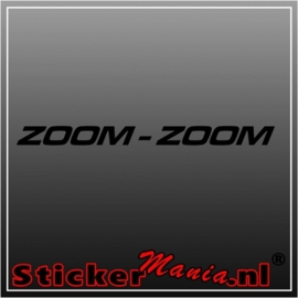 Zoom-Zoom raamstreamer sticker