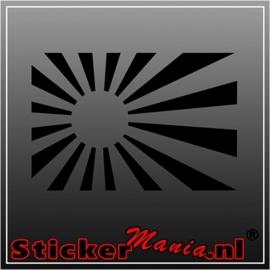Japanse vlag sticker