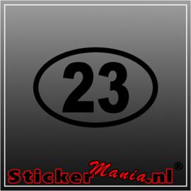 Race nummer 8 sticker