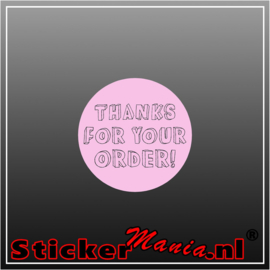 Thanks for your order Sticker roze