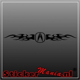 Acura flames 1 raamstreamer sticker