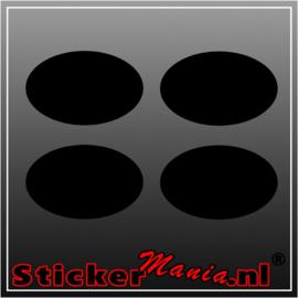 Set van 4 ovale krijtbord sticker